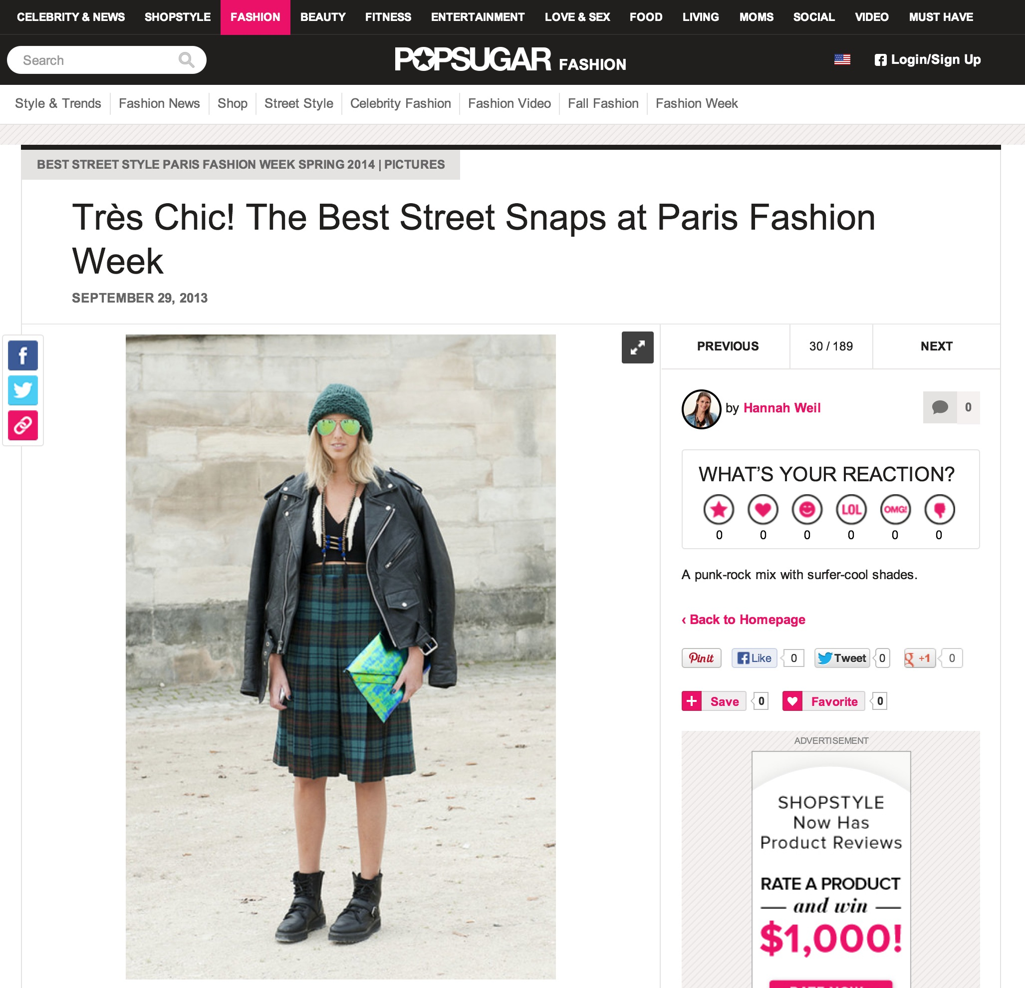 popsugar fashion   Paris fashion week   September 2013