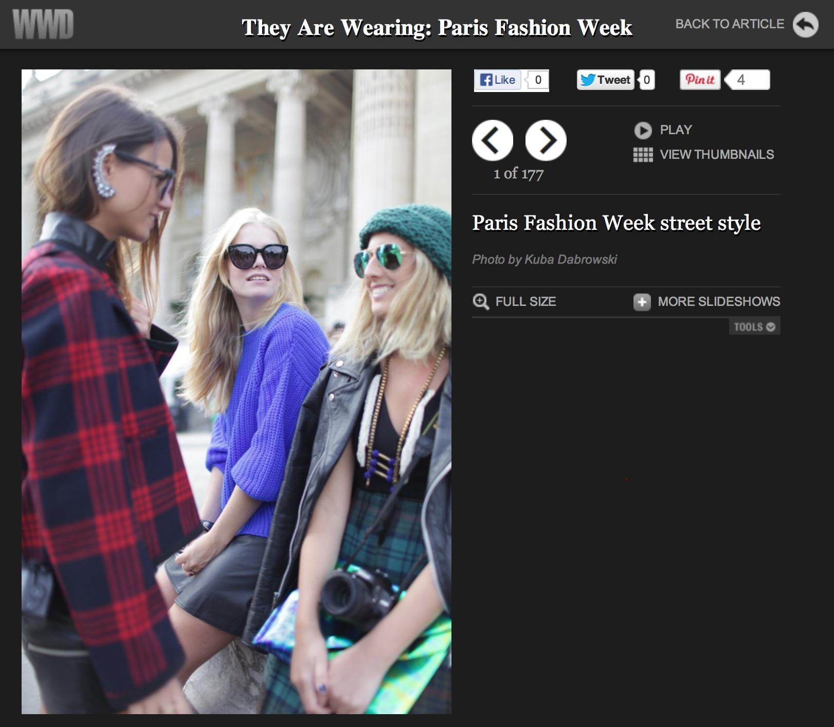 WWD   Paris fashion week   Septeber 2013