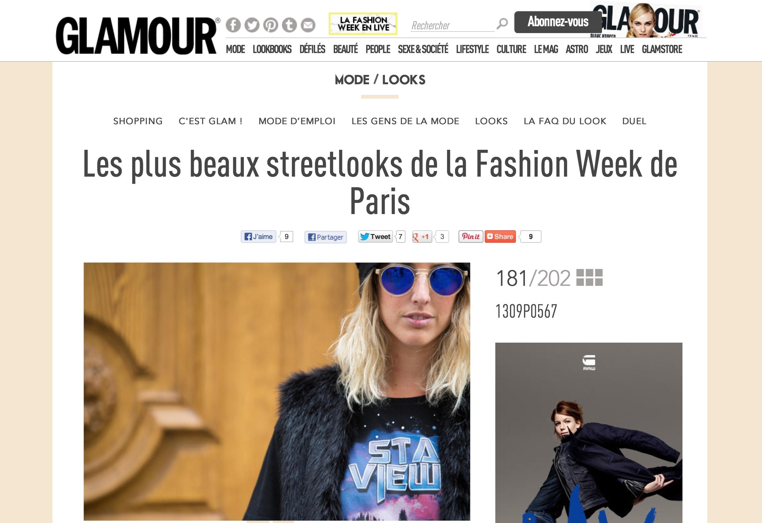 Glamour Paris     Paris fashion week- Sept 2013