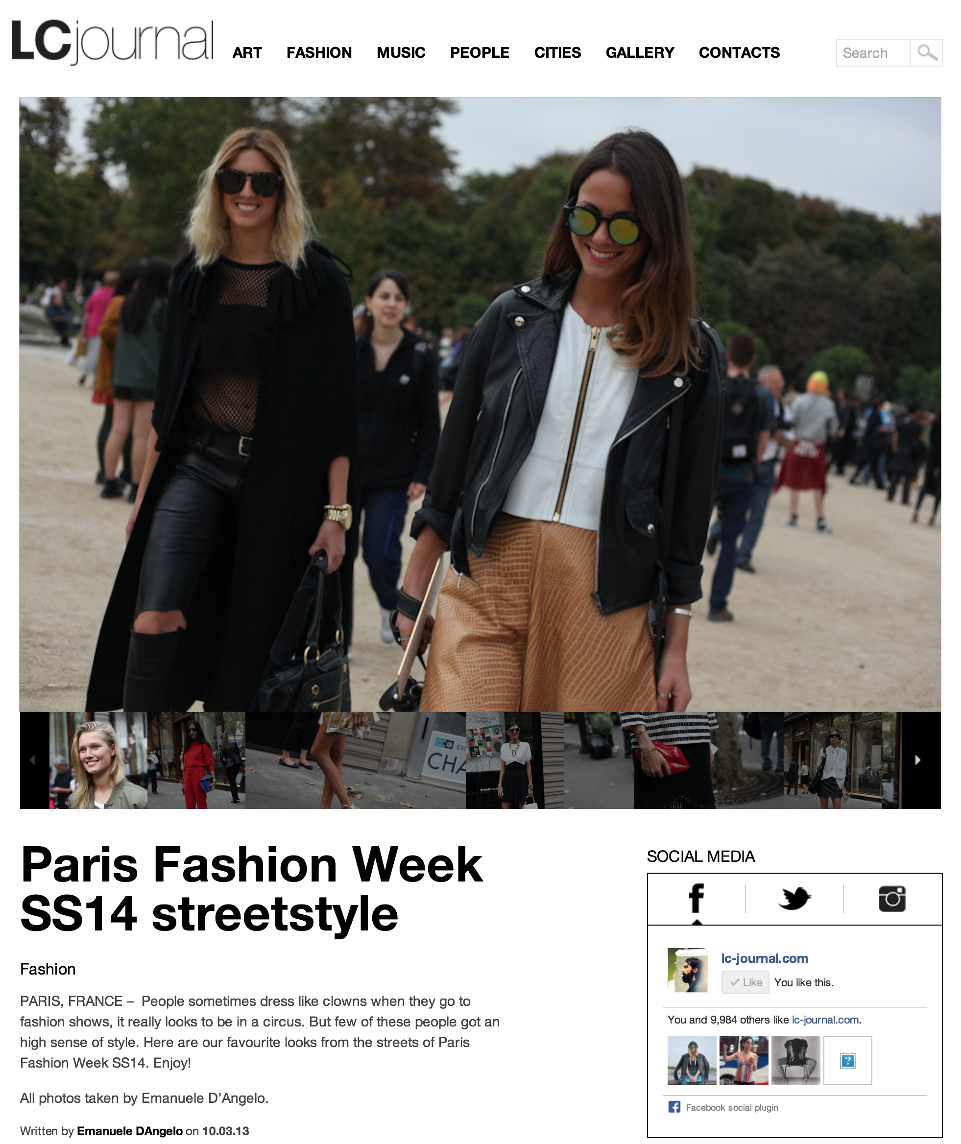 LivingCool     Paris fashion week- Sept 2013