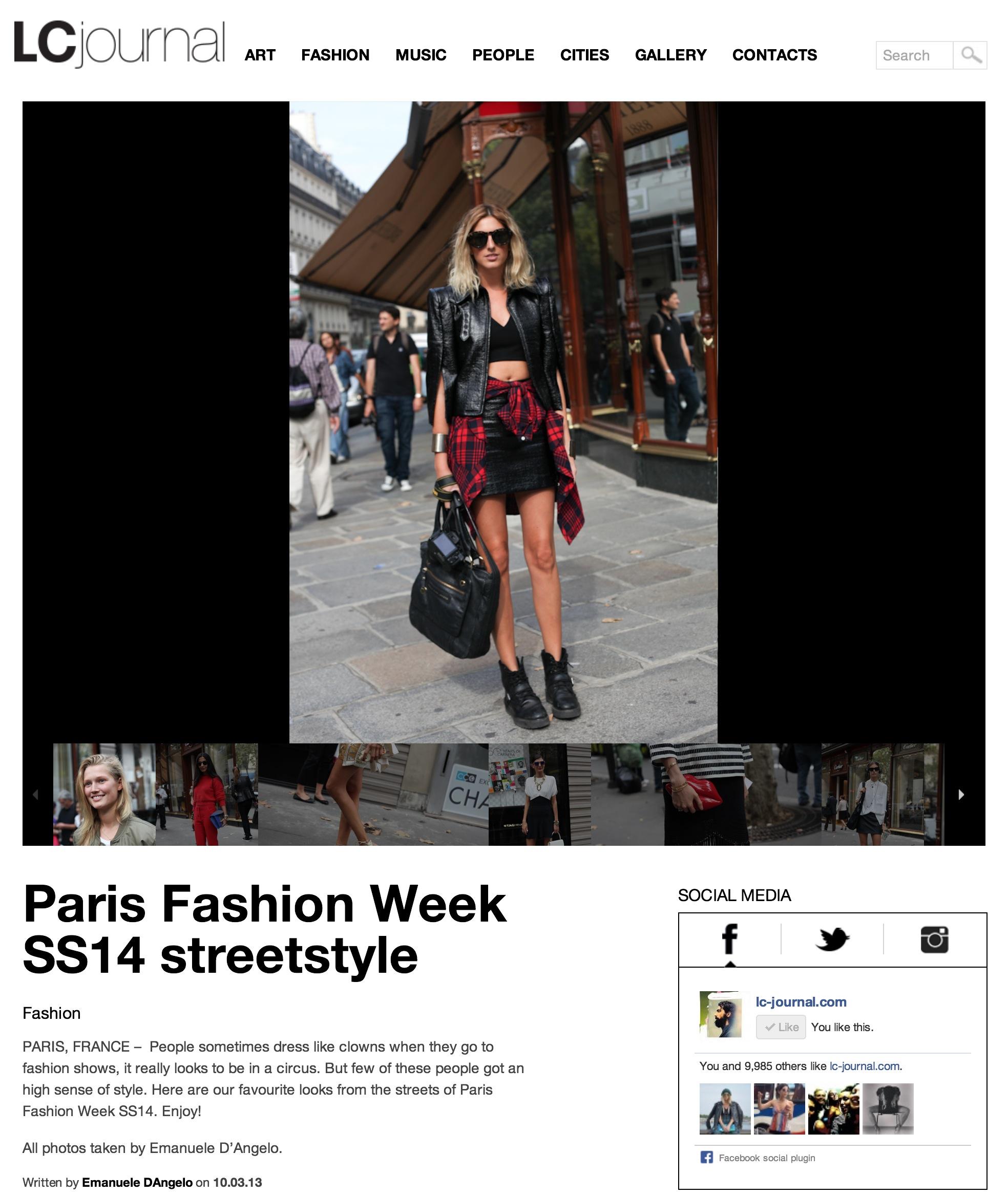 LivinCool Paris fashion week- Sept 2013