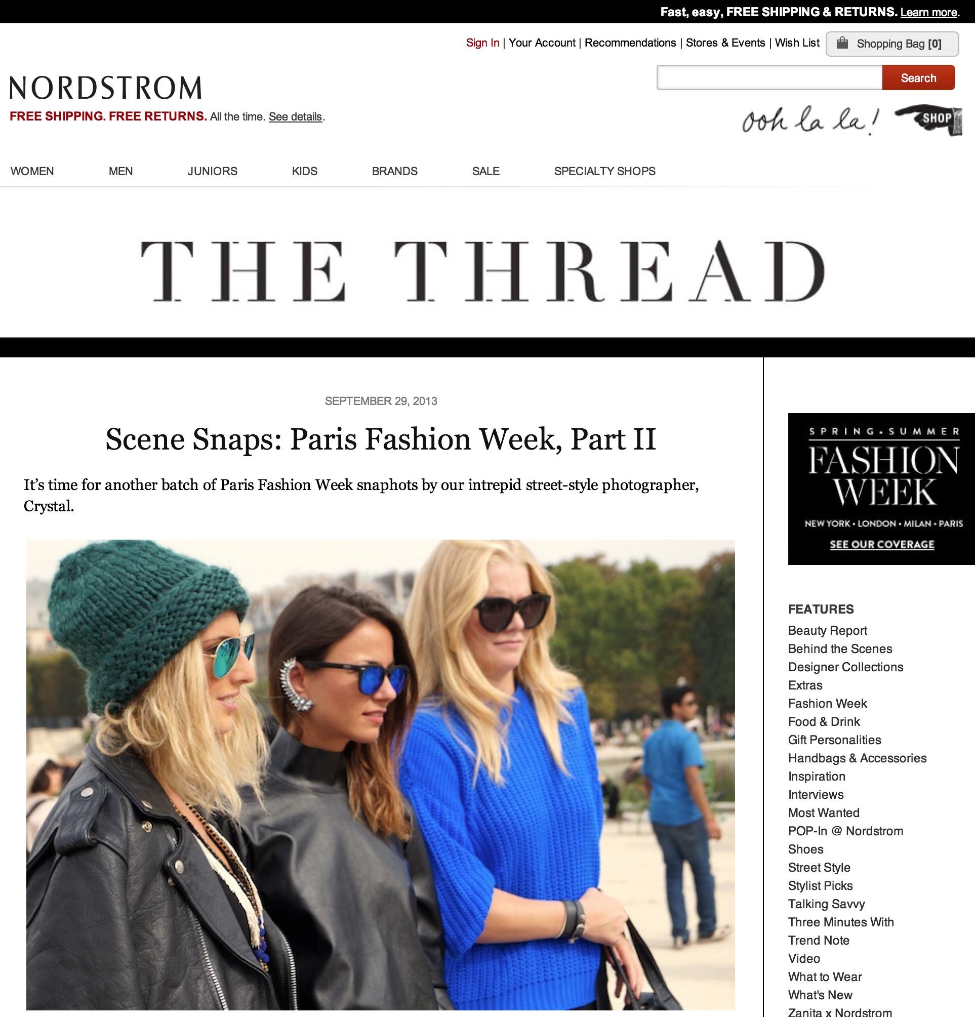 Nordstrom blog   Paris fashion week  Sept 2013