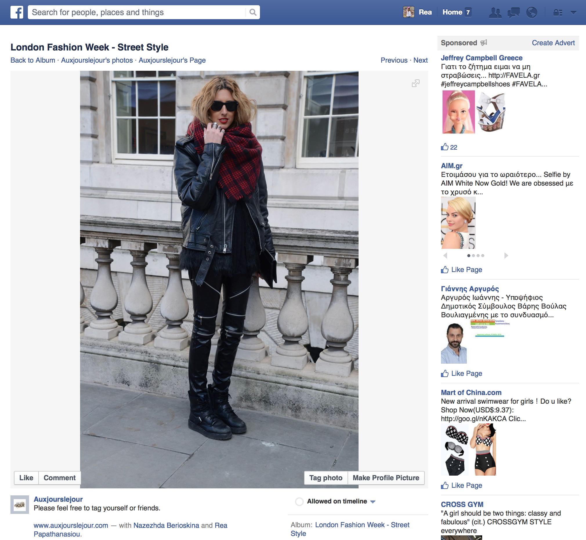 Aux Jours Les Jour facebook page    February 2014