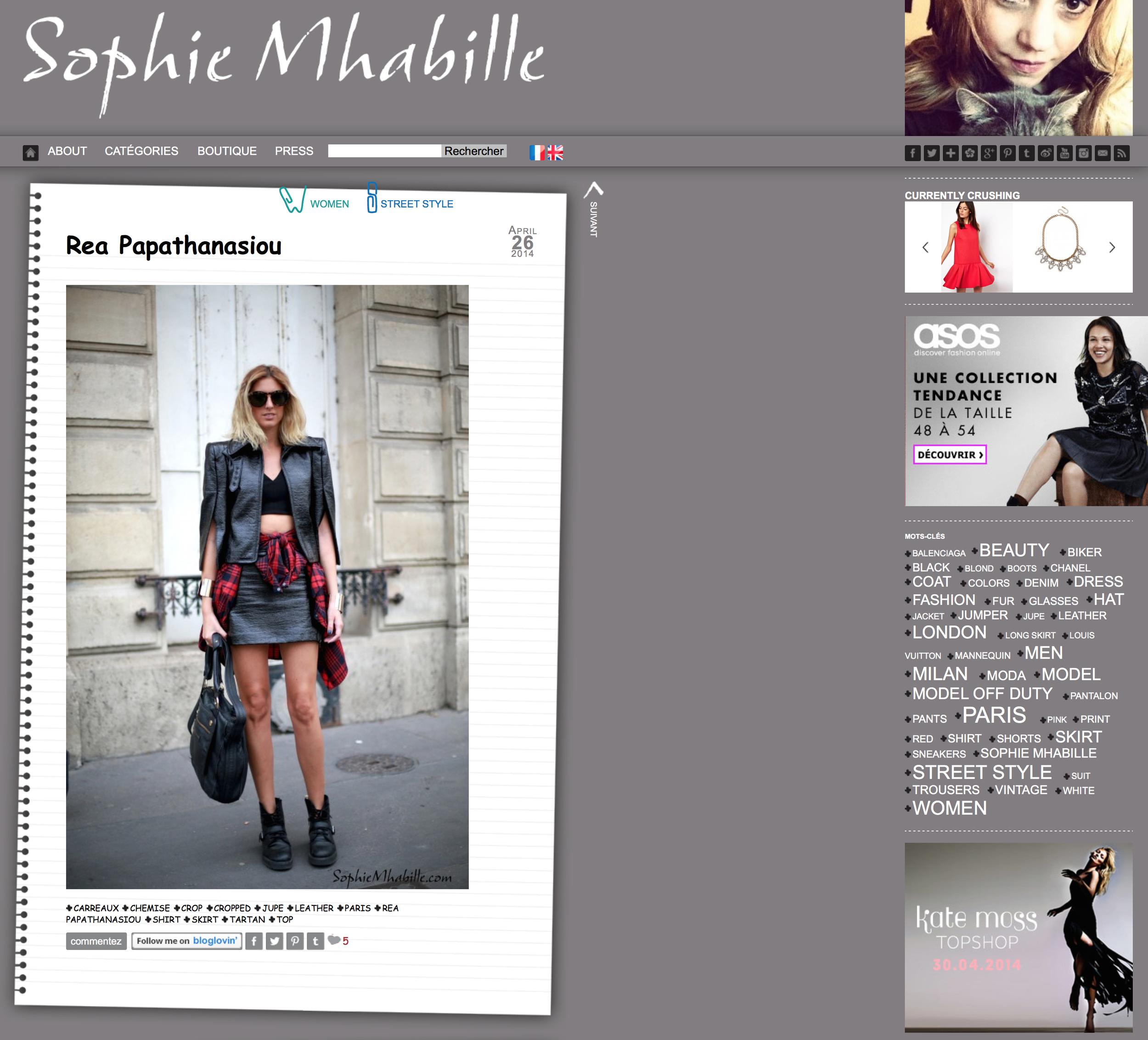Sophie Mhabille    April 2014