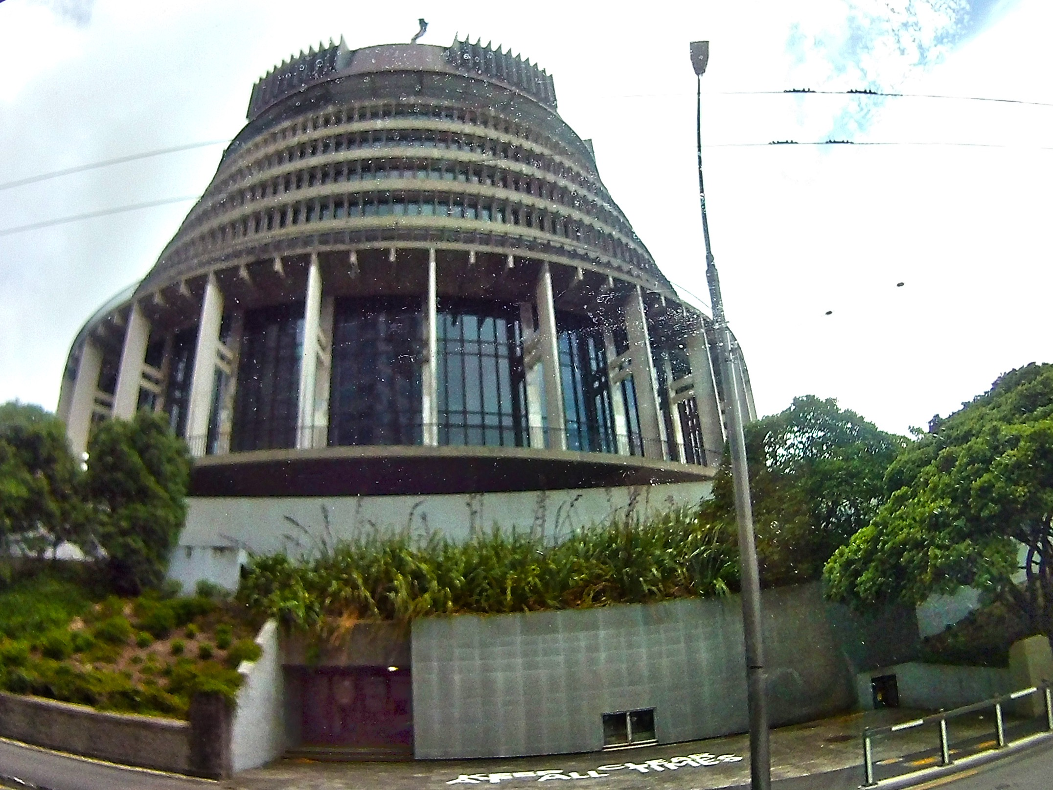 """""""Beehive""""-New Zealand parliament"""