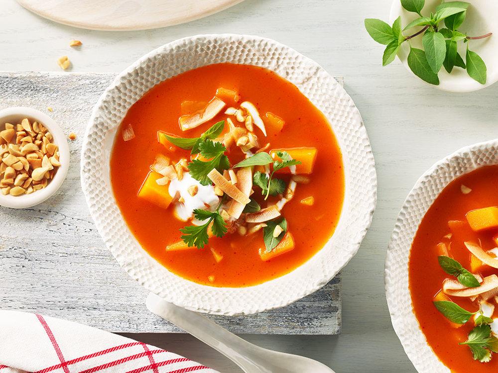 Thai Squash + Red Curry Soup