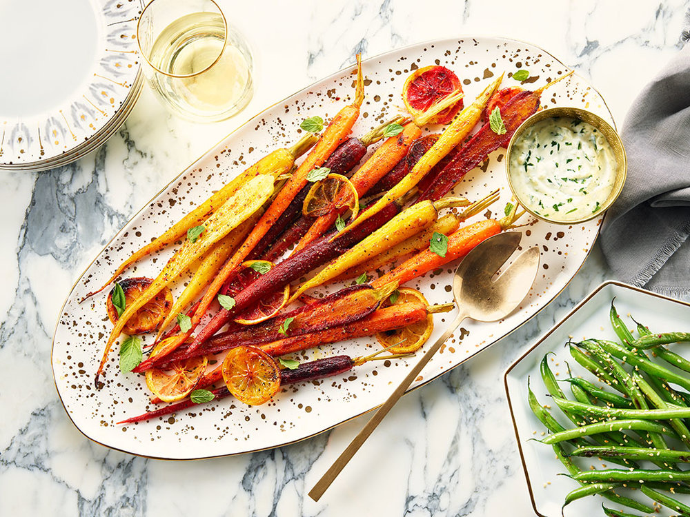 Curried Carrots with Cashew and Cilantro Dressing