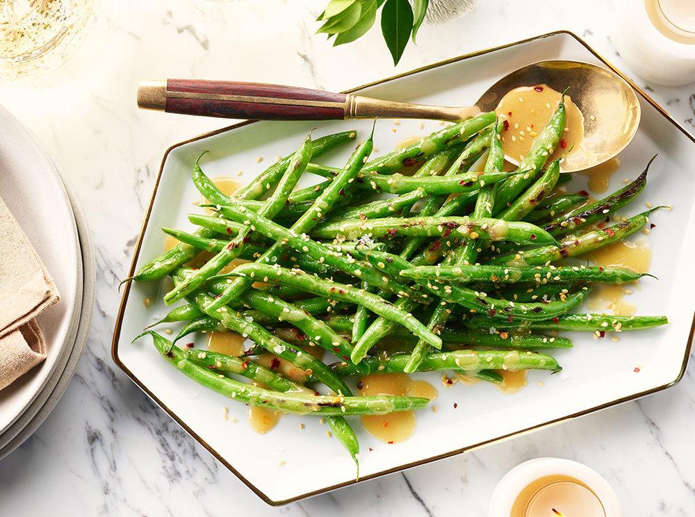 Sesame Blistered Green Beans