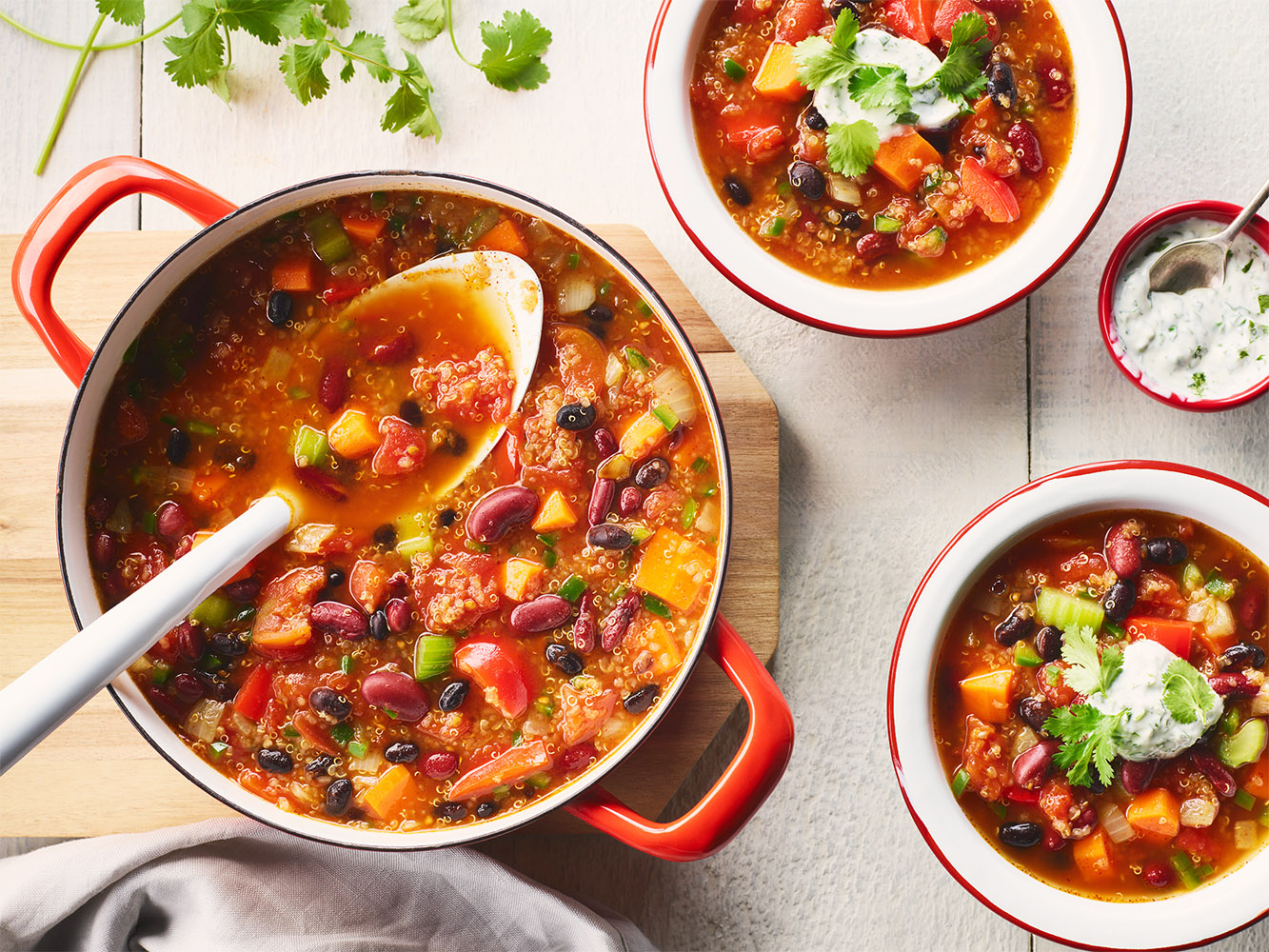 Vegetable Chili with Cilantro