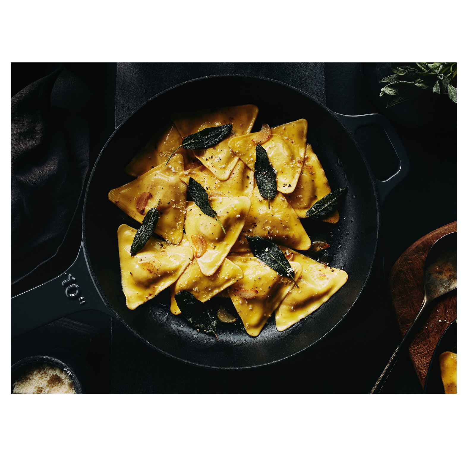 Pumpkin Triangoli with Lemon Sage