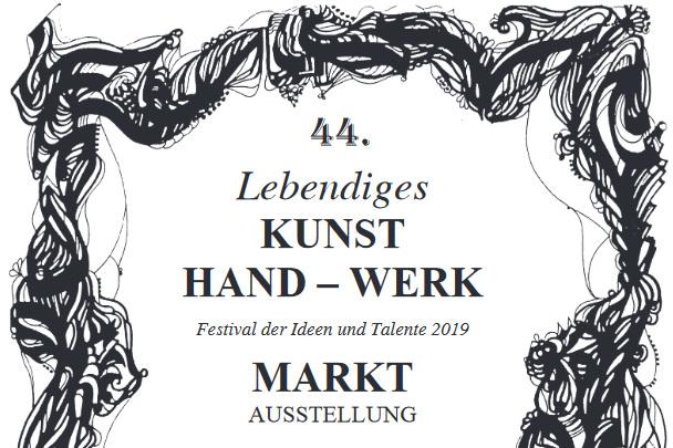 "44 Jahre ""Lebendiges Kunsthandwerk"" - Maulbronn20.- 22. April 2019www.lebendiges-kunsthandwerk.de"