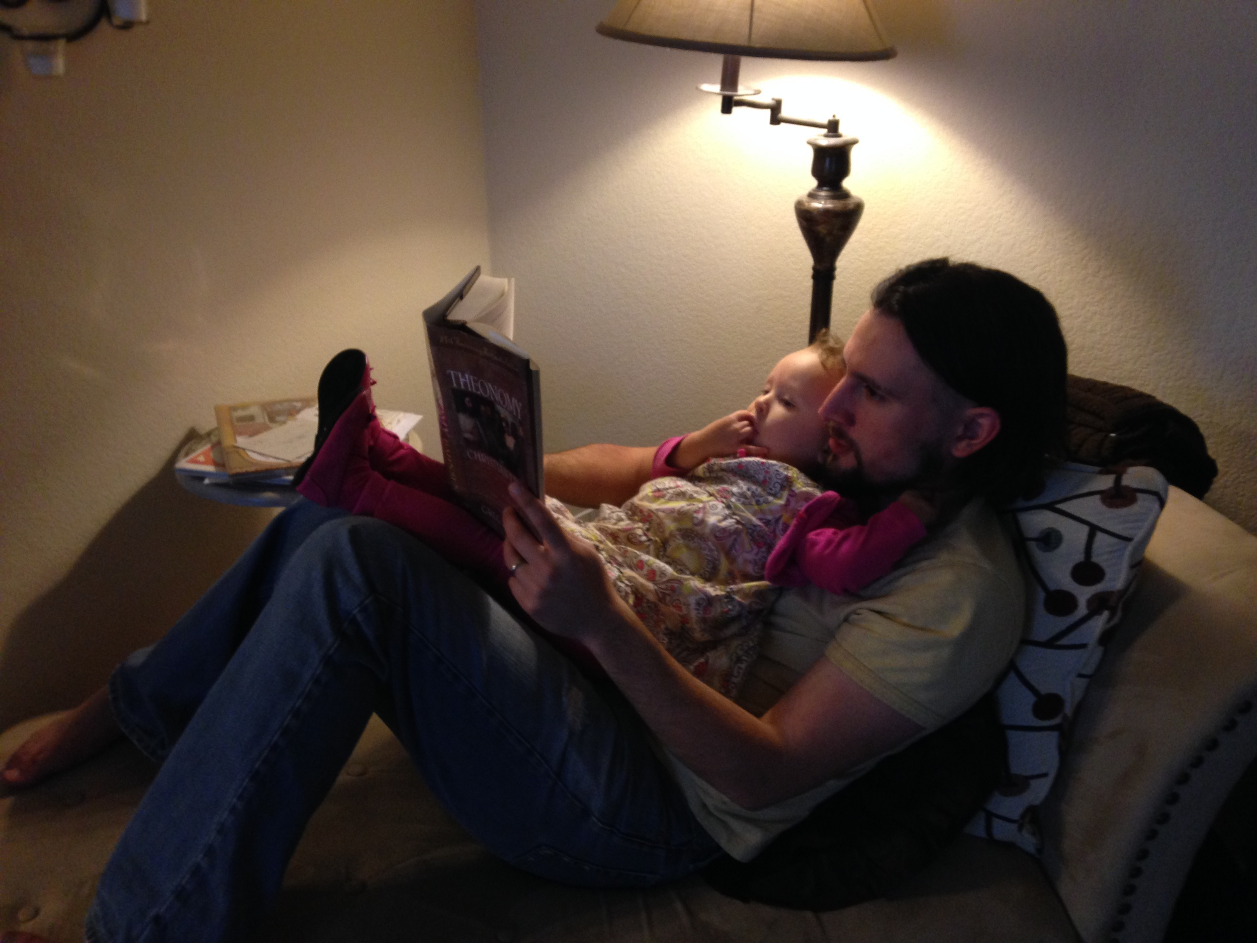 Tuesday - How else would one read at our house?