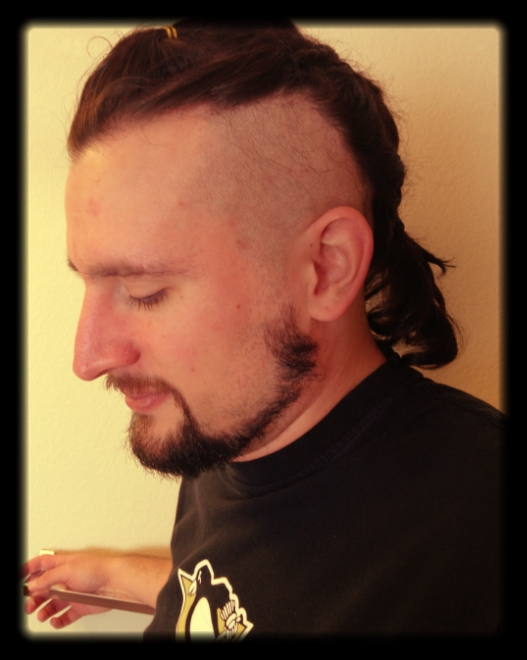 Walkin' the Talk - he kept saying he wanted this haircut....Monday