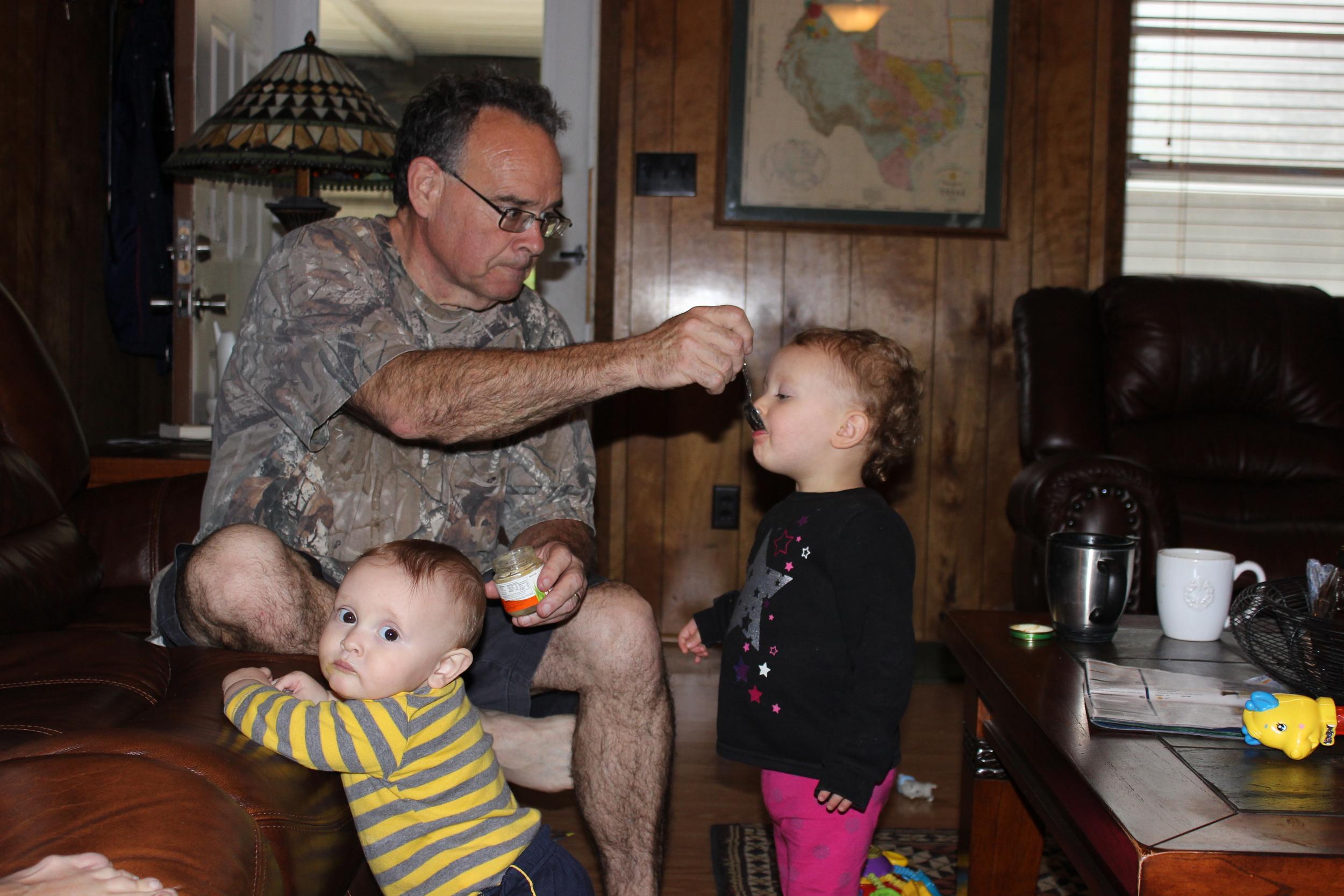 Granddad's food? Kenzie's food? Judah's food? Share and share alike!