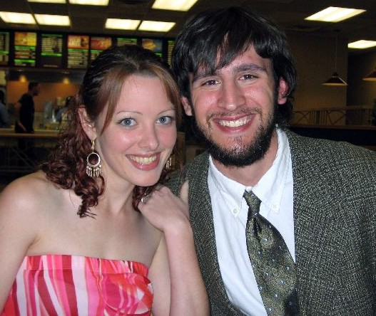 """Our """"first date"""" all dressed up to play putt-putt."""