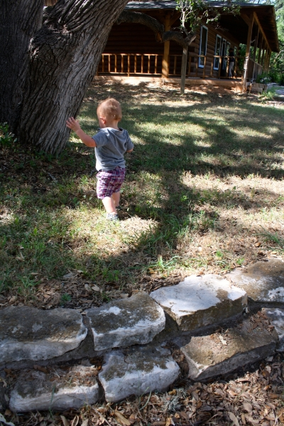 Watching the unsteady steps of my son trip over the same roots my chubby baby legs got tangled in three decades ago brought tears to my eyes.