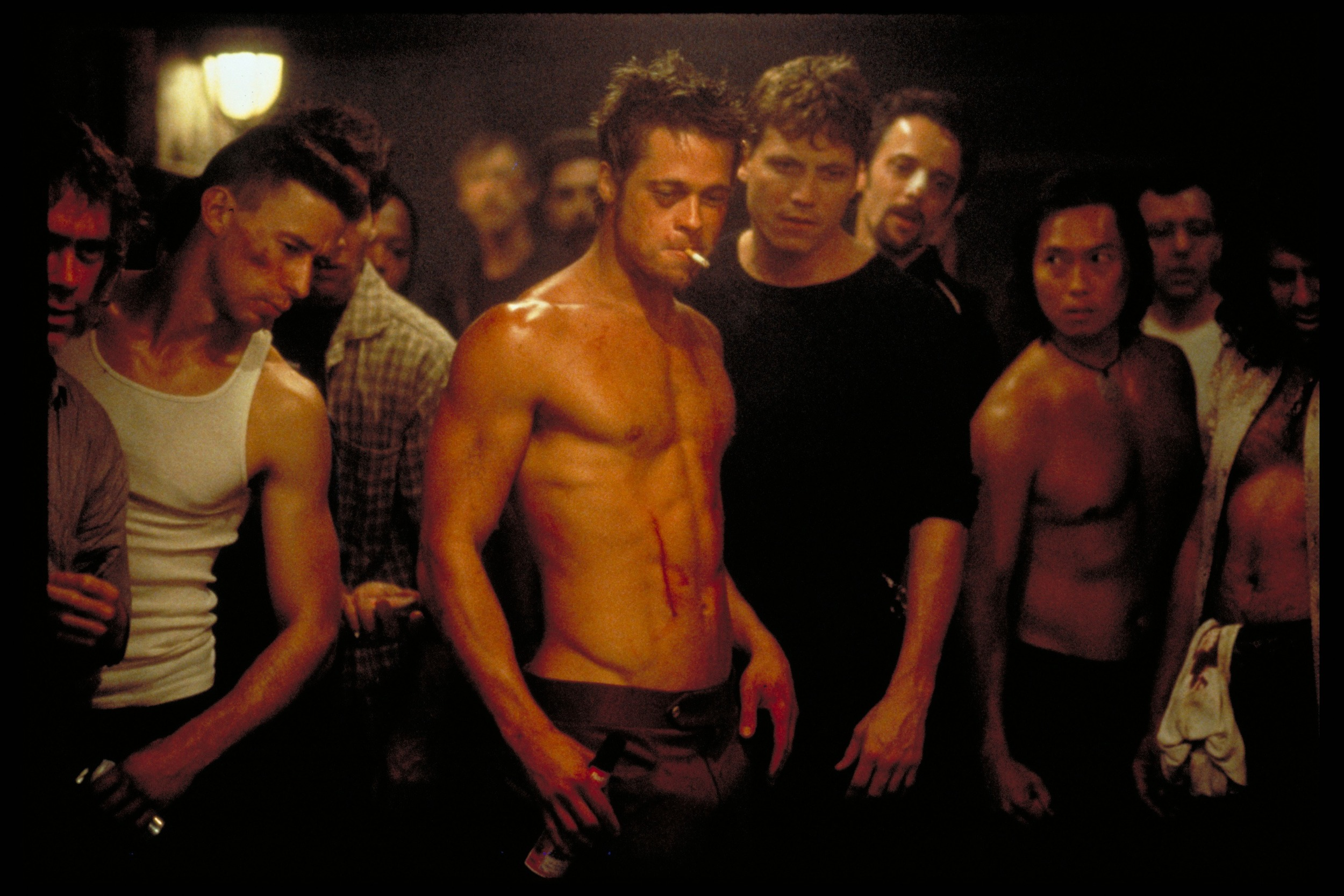 This has nothing to do with the subject. It's just Brad Pitt looking awesome in Fight Club.