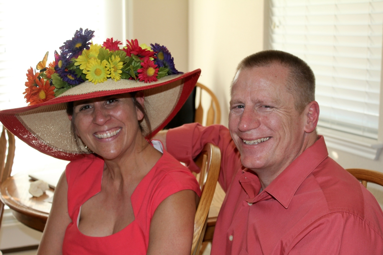 My lovely mother-in-law handcrafted a winning Derby hat - literally, she won our hat contest!
