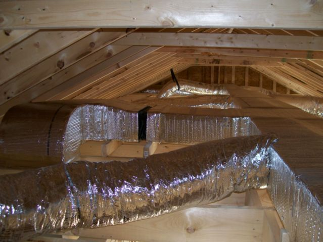 New Attic Ductwork Installation