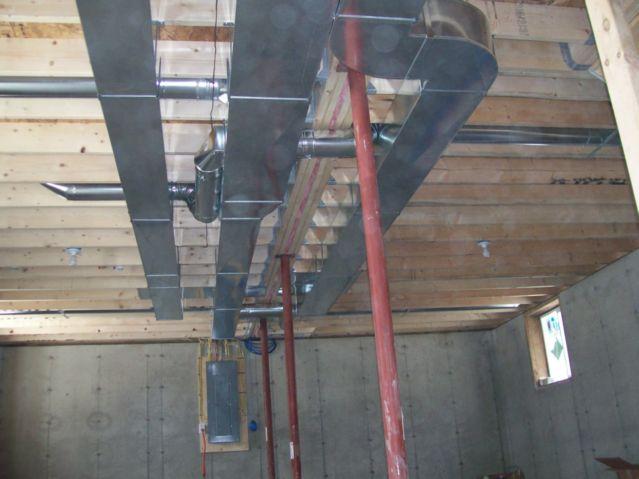New custom duct installation