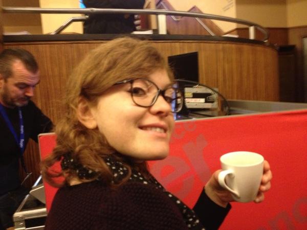 Aurélie dans le public... le café s'impose :-)