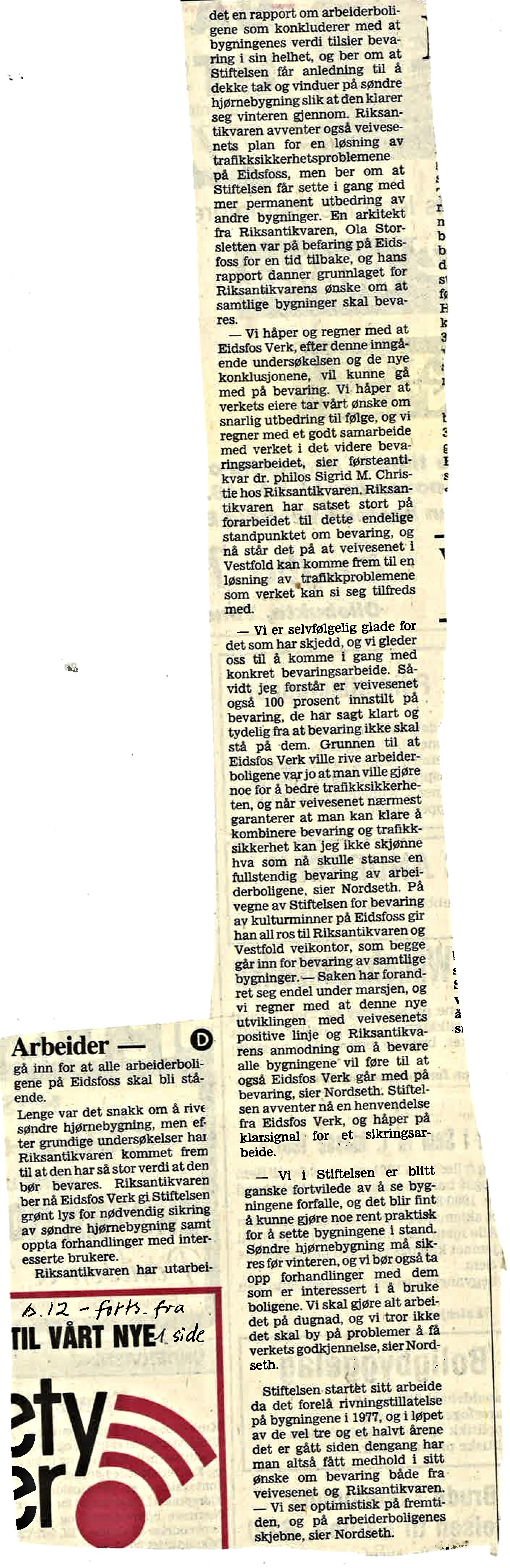 Vestfold Arbeiderblad november 1980