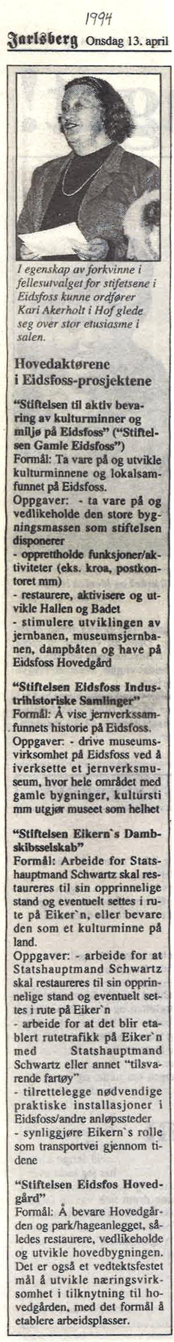 Jarlsberg Avis 13. april 1994