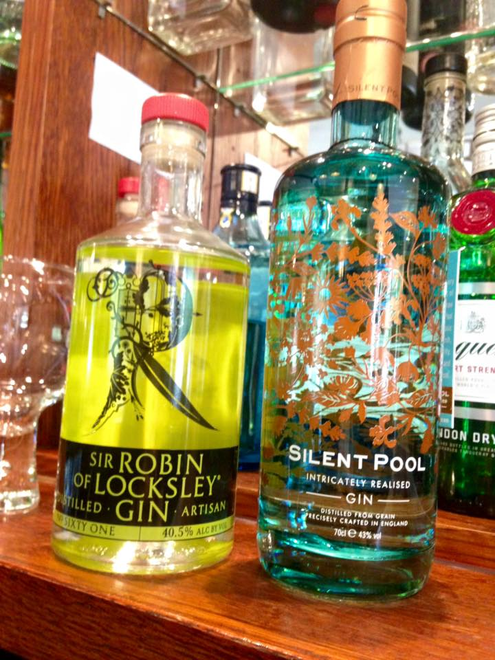 Just two of our fantastic new Gin selection: Sir Robin of Locksley with infusions of elderflower, dandelion, pick grapefruit and Silent Pool, a juniper driven spirit with layers of lavender, chamomile, kaffir line and honey! 25 and counting.......