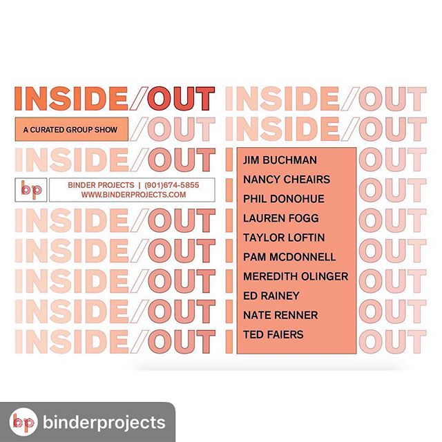 #Repost @binderprojects with @download_repost ・・・ Binder Projects is pleased to announce 'Inside/Out', an exhibition of new work by Jim Buchman, Nancy Cheairs, Phil Donohue, Lauren Fogg, Taylor Loftin, Pam McDonnell, Meredith Olinger, Nate Renner and Ed Rainey. The show opens on May 10 and runs through May 25. An opening reception will be held on Friday, May 10 from 5:00pm until 8:00pm at 74 Flicker St. . . #binderprojects #jimbuchman #nancycheairs #phildonohue #laurenfogg #taylorloftin #pammcdonnell #mereditholinger #naterenner #edrainey #painting #sculpture #drawing #photography #contemporaryart #exhibition #artopening