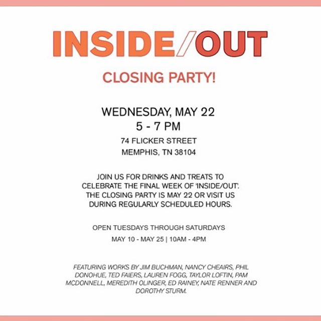 Tomorrow night is the closing reception for 'Inside/Out'. Join us to celebrate the end of this beautiful show! . . #binderprojects #artopening #galleryopening #onlinegallery #painting #drawing #sculpture #contemporaryart