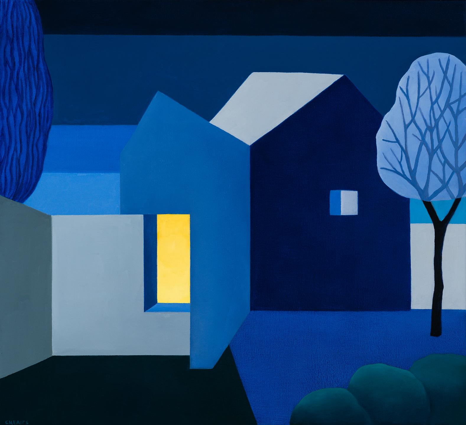 """Night , 24"""" x 26"""", oil on canvas, 2019"""