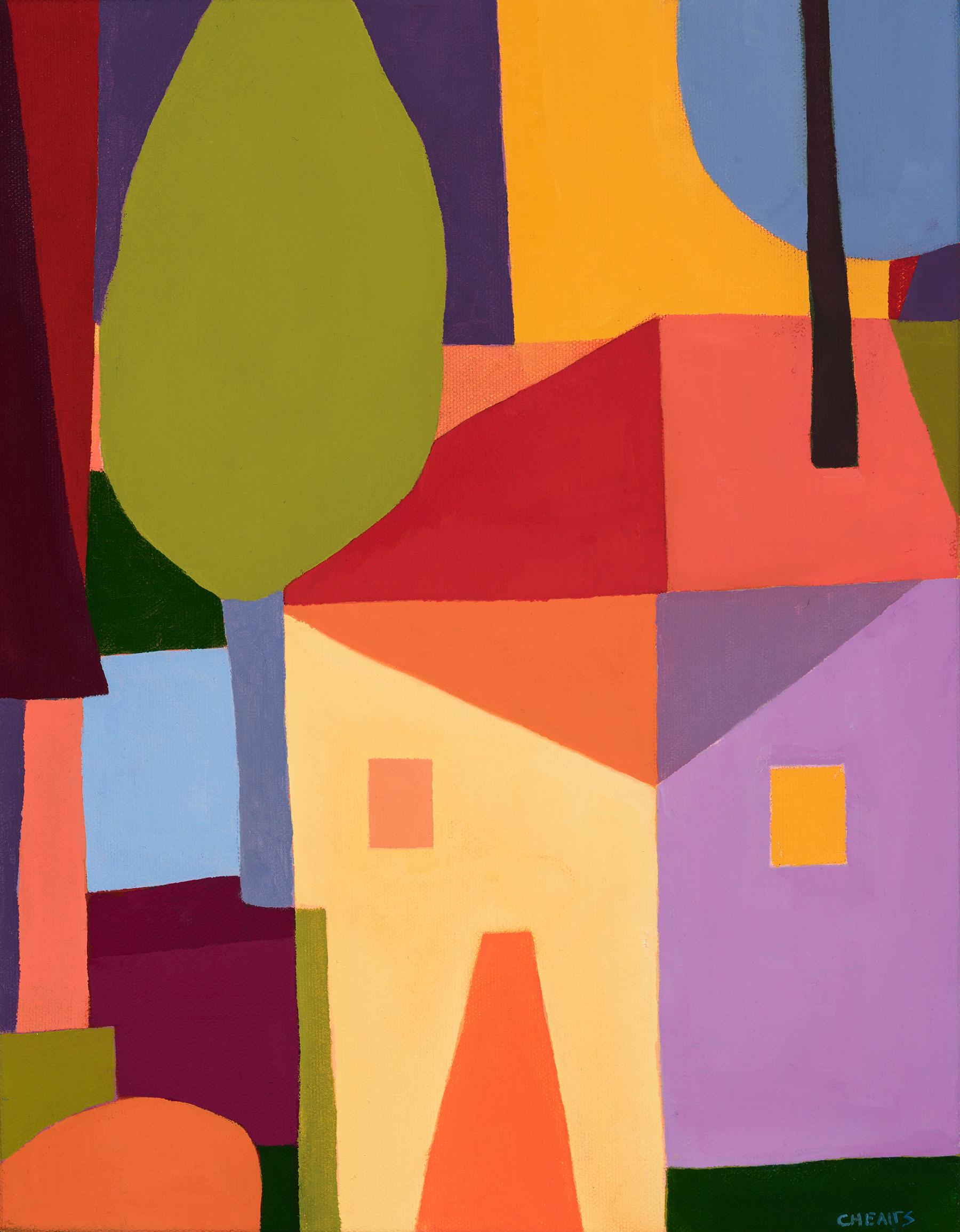 "Fun House , 16"" x 13"", oil on canvas, 2019"