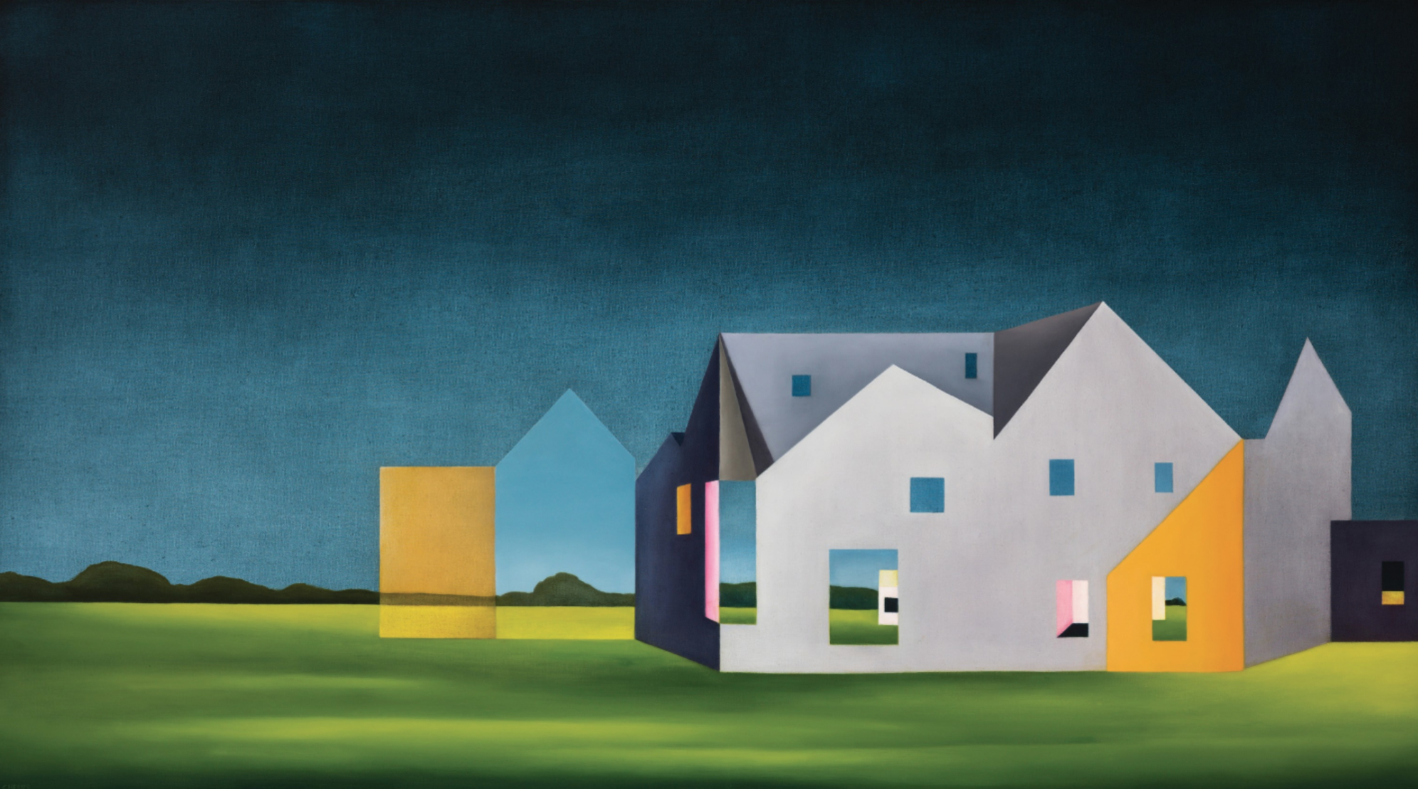 """Arcadia II , 40"""" x 72"""", oil on canvas, 2017"""
