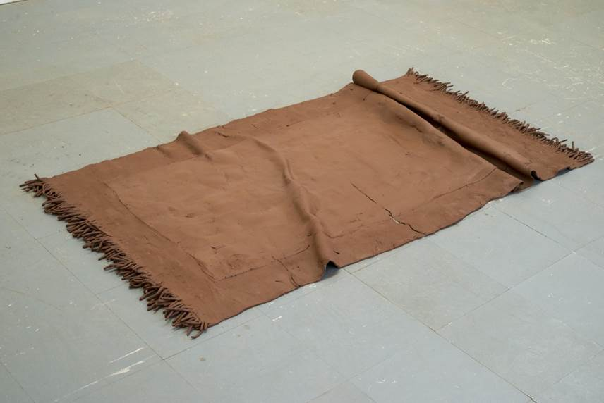 Jesus Sanchez, Untitled (Clay Rug)