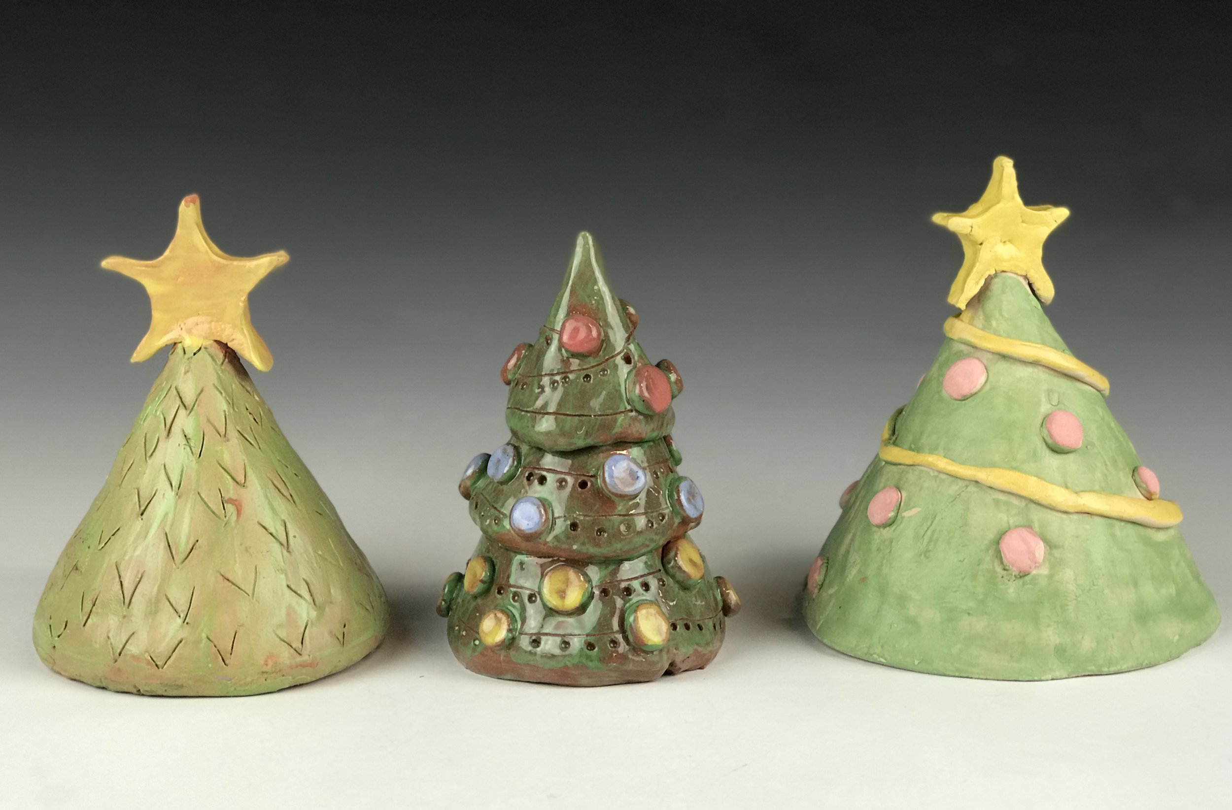 Clay Holiday Trees - Make a holiday tree from clay to decorate your home. The decorative options are endless!**kids ages 8 and under MUST be accompanied by an adult**