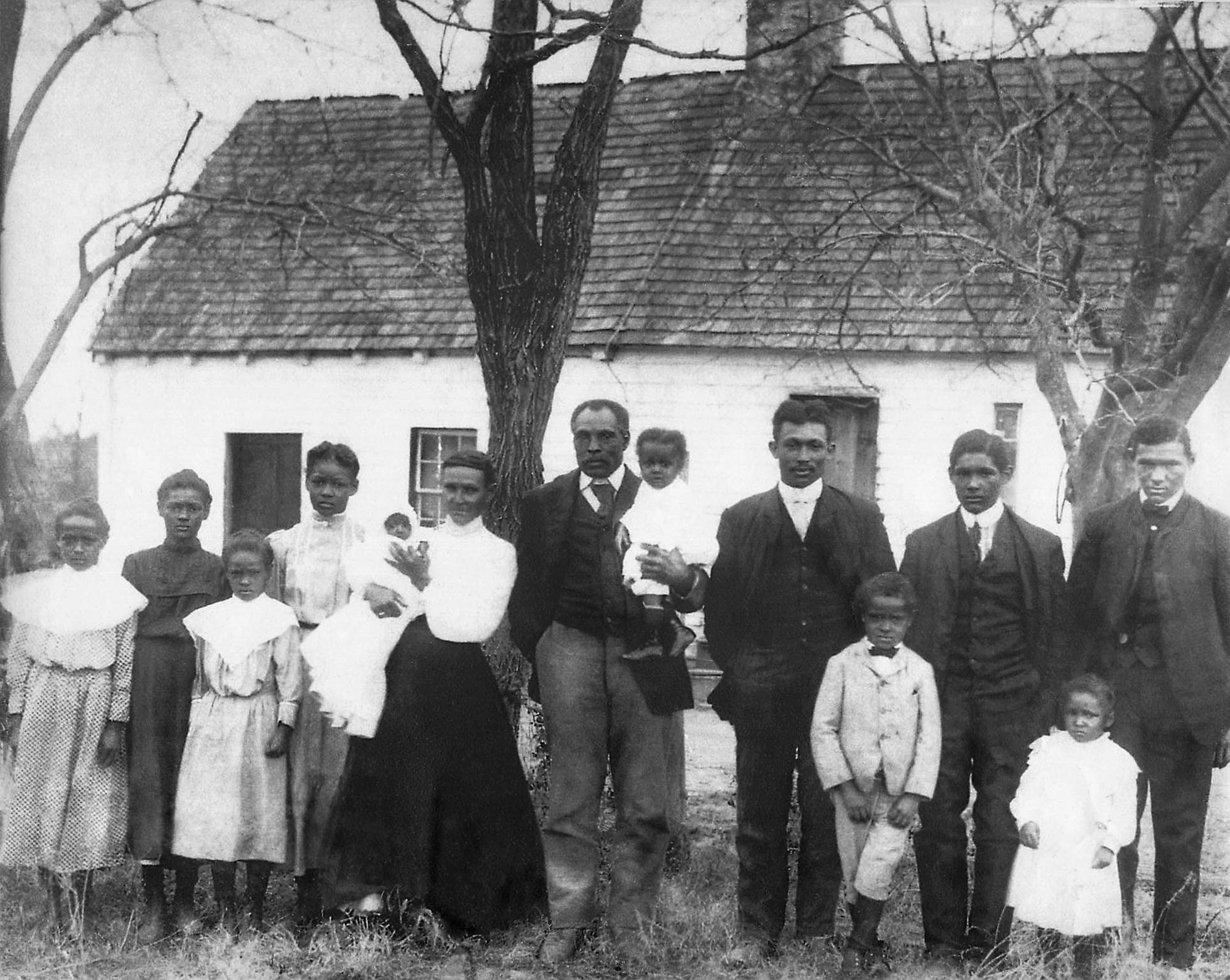 Restored family portrait, c. 1900
