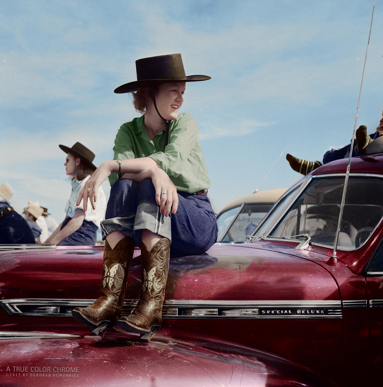 """Dude at rodeo. Ashland, Montana,"" September 1941"