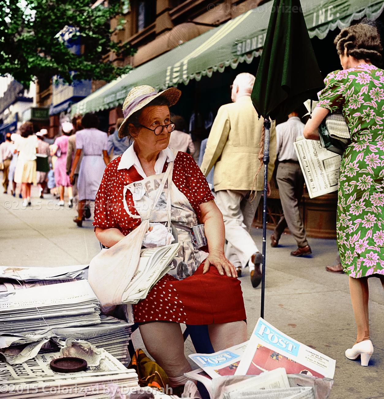 Washington, D.C. A woman newspaper vendor, July 1943