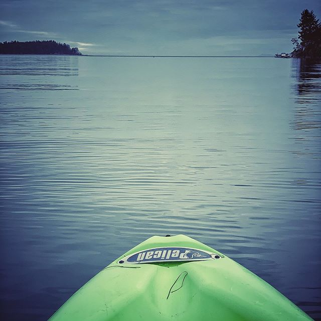 Spending some calm time on the water!! #kayaking