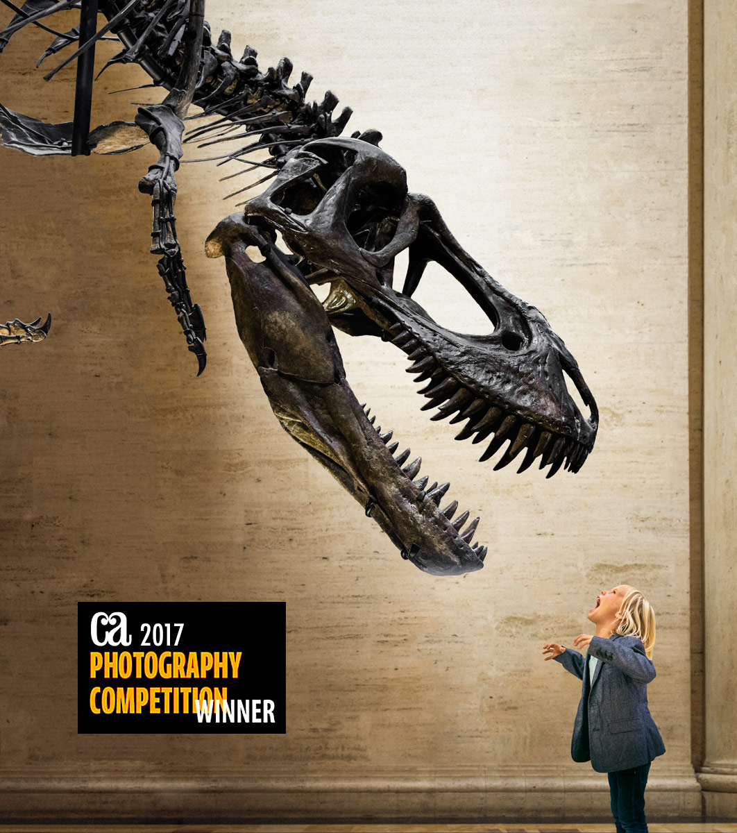 """Winning image """"ROAR"""", shot at the Natural History Museum of L.A. for the Official Los Angeles Visitors Guide 2017"""