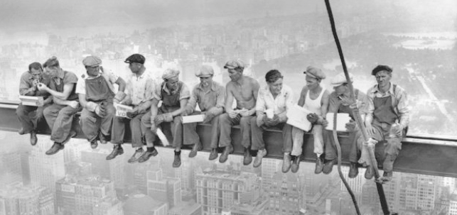 Lunch Atop a Skyscraper, by Charles C.Ebbets, September 20, 1932, RCA Building NYC