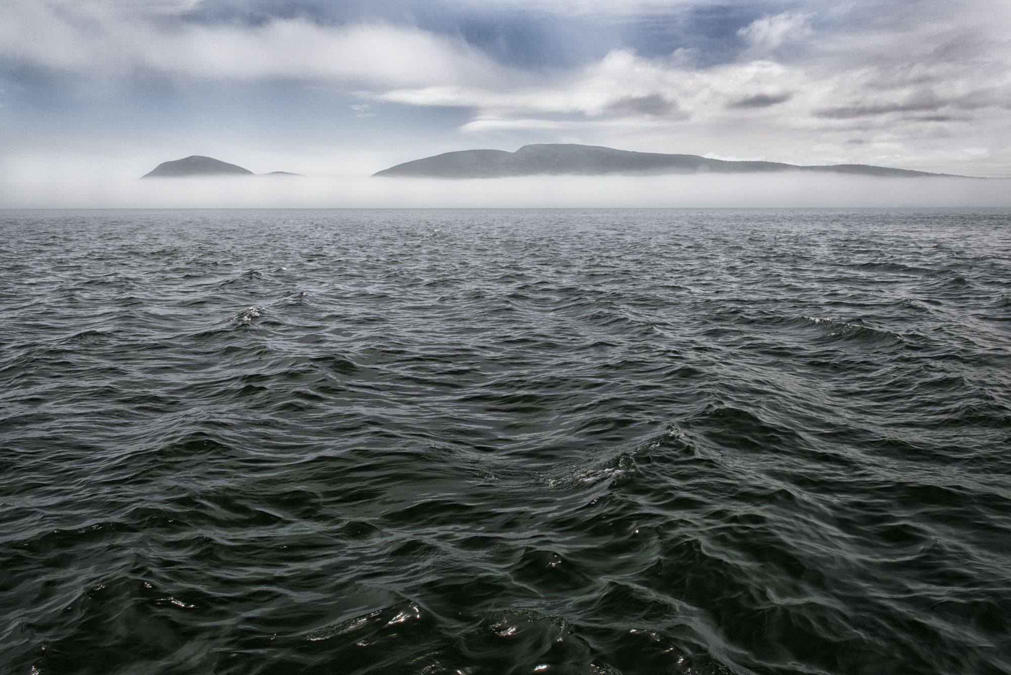 Bar Harbor Fog Bank - Final Image, after Nik Color Effects Pro