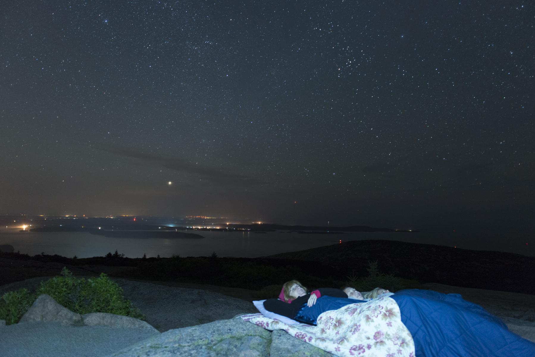 Under the stars, Cadillac Mountain - Acadia Photo Safari