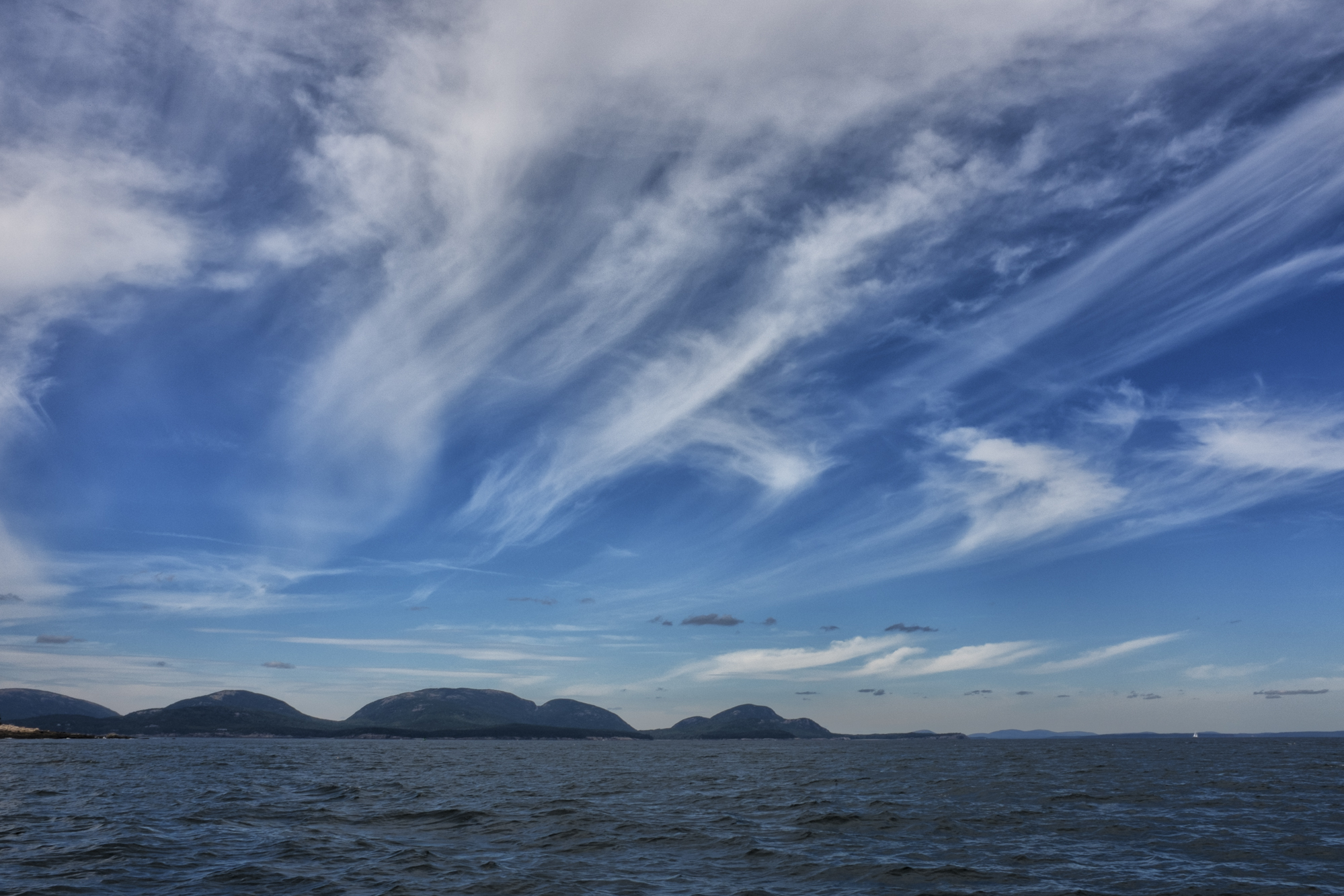 Clouds Over Mount Desert Island, Acadia National Park, Maine.
