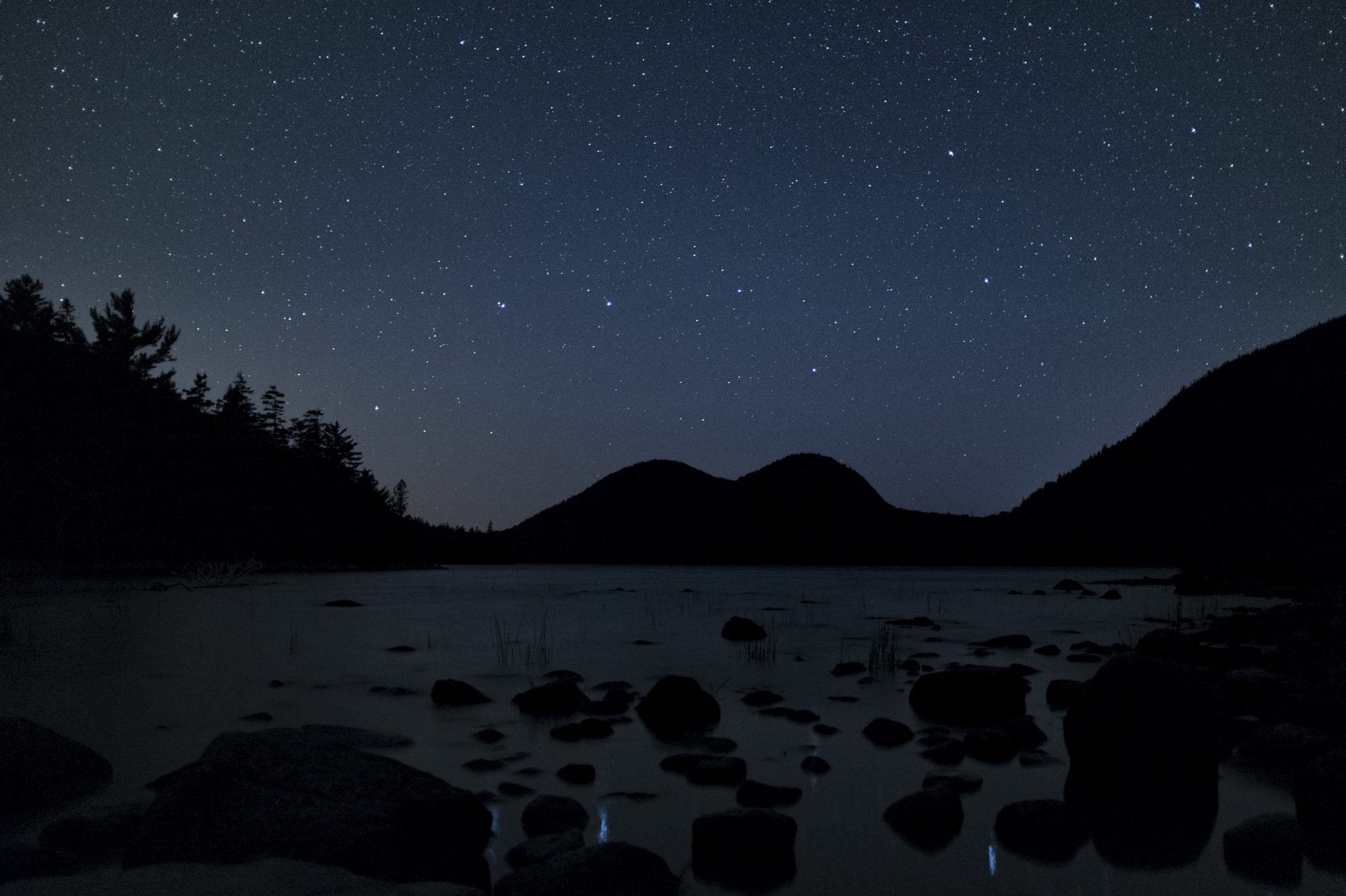 Night Sky, Jordan Pond, Acadia National Park, Maine