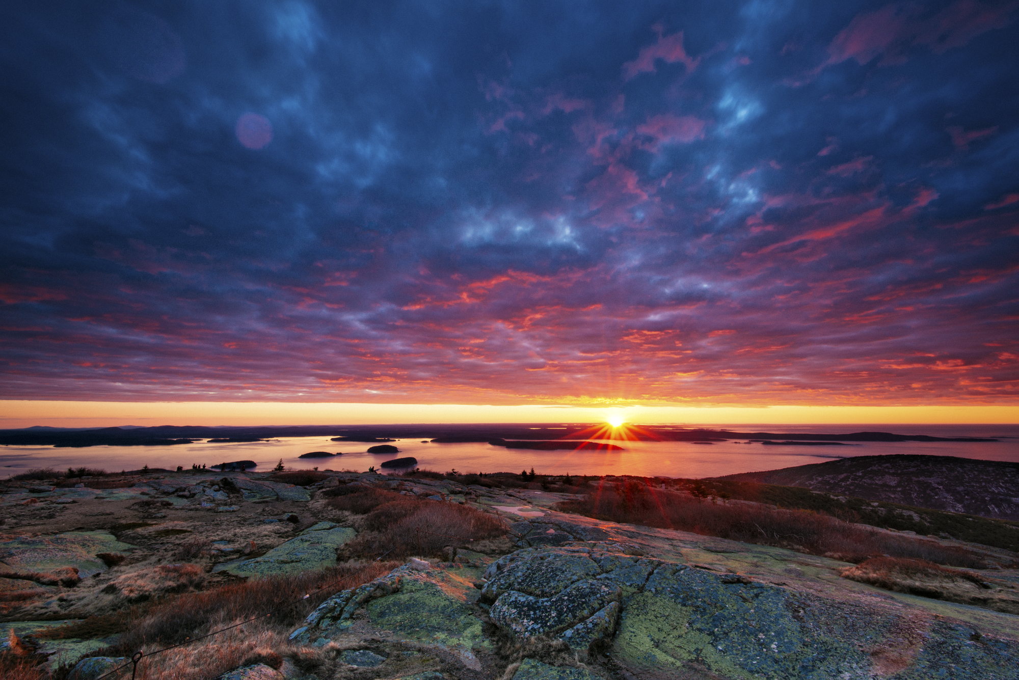 Sunrise, Cadillac Mountain, Acadia National Park, Maine