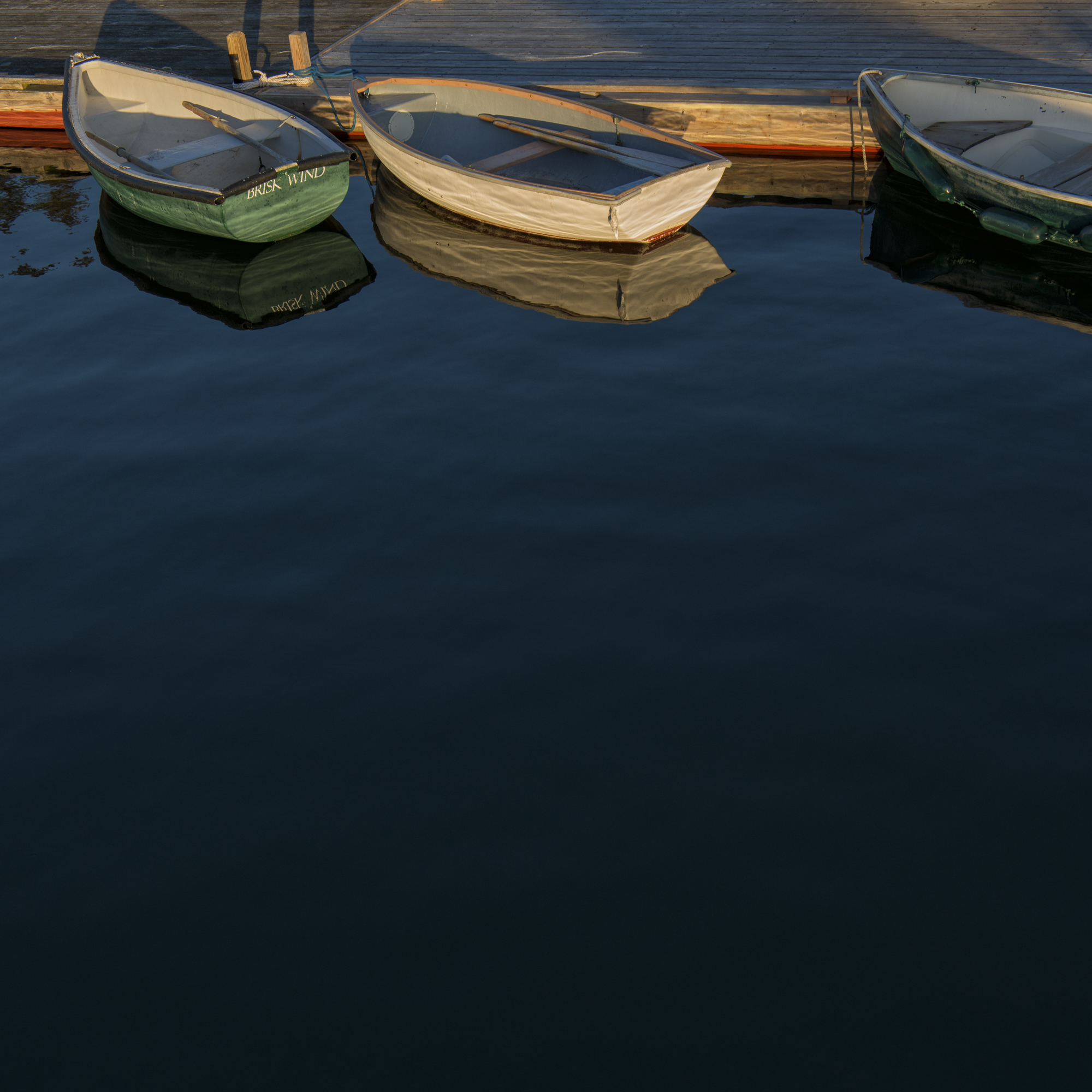 Dinghies At Islesford Dock, Little Cranberry Island, Maine
