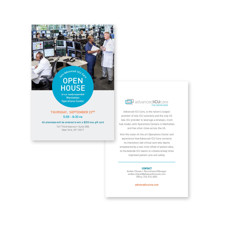 Advanced ICU Care open house invite