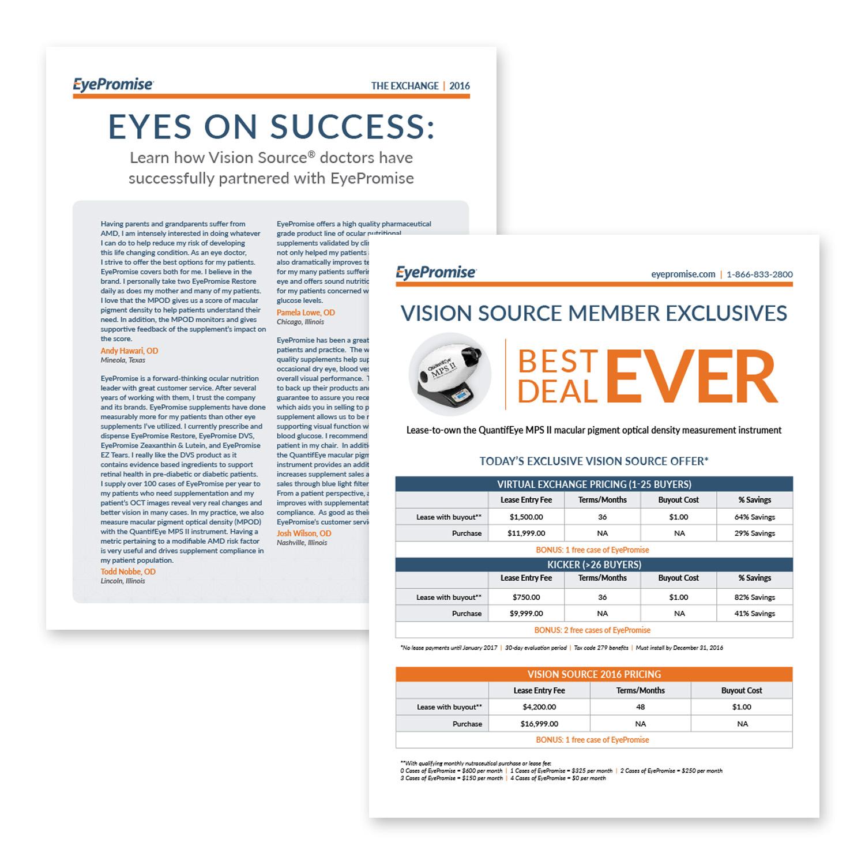 EyePromise trade show flyer