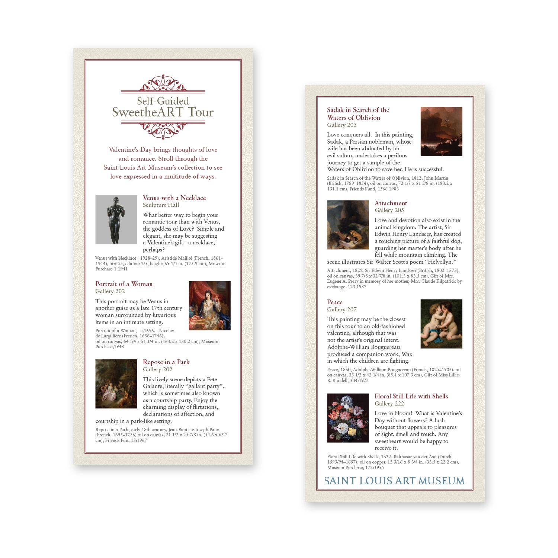 Saint Louis Art Museum Valentine's Day rack card